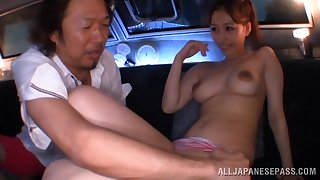 Reprobate fucking between an older man and a cock hungry Japanese cutie