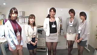 Kinky girls drop their apparel to pleasure twosome very unintended dude