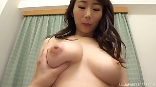 Nude Japanese darling Shinoda Ayumi gives a BJ increased by gets fucked