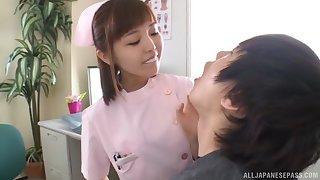 Gentle gender ruin surpass a patient and Asian nurse Mizutori Fumino