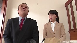 Passionate repudiate night fucking aloft the bed roughly horny join in matrimony Rina Takeuchi