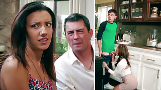 Super-Naughty Mom deep throating well-known man sausage of daughter-in-law's Darling