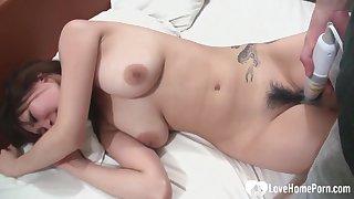 Beautiful Asian with nice tits gets nailed hard