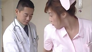 Saleable Japanese nurse licking her patient's pussy - Mai Hagiwara