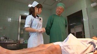 Japanese nurse with natural boobs animalistic fucked - Minami Kojima