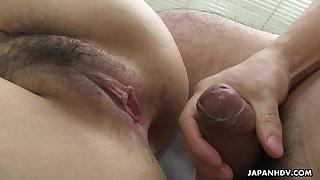 Japanese chick, Sayaka Aishiro got fucked in the ass, well-shaped