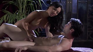 After a blowjob Asa Akira got her tight pussy fucked apart from young lady's man